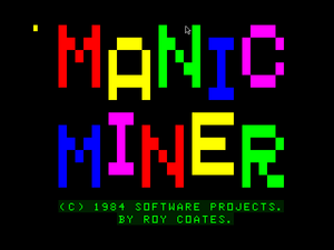 Manic Miner is loading...