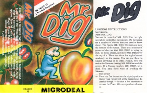 Mr Dig cassette inlay