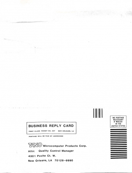 File:TANO Microcomputer Products Corporation Warranty Card Back.jpg